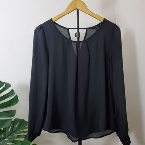 Black long sleeve Top, Size S